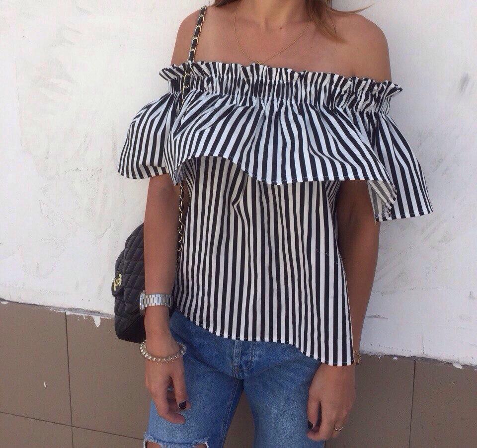 74c2b9fc250 Женская рубашка в черную полоску  продажа