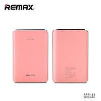 Миниатюрный внешний аккумулятор Power Bank Remax Tiger RPP-33 5000 mAh pink