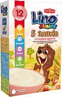 Безмолочная каша Junior 5 злаков со вкусом ванили от 12 мес 200 г Lino 1115322