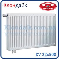 Sanica стальной панельный радиатор нижнее подключение тип 22 500х500