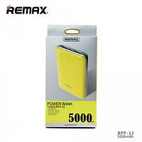 Дополнительный аккумулятор банка Power Bank Remax Tiger RPP-33 5000 mAh yelllow