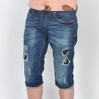 Мужские джинсовые шорты с дырами D&G - Турция - модель 144-41