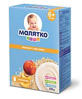 Каша молочная Малятко Овсяная с персиком 200 г (в ящике 14 шт),6+ мес