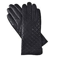 Красивые черные перчатки женские на плюшеPERCH-3