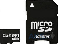 Карта памяти Exceleram 32Gb microSDHC class 10 + Adapter SD (MSD3210A)