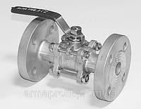 Кран нержавеющий фланцевый Ду20 Ру40 трехсоставной тип BVGV-40F-SS AISI304 (К122)