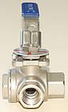 Кран шаровый нержавеющий трехходовой резьбовой T-порт AISI304 Ду50 Ру63, фото 5