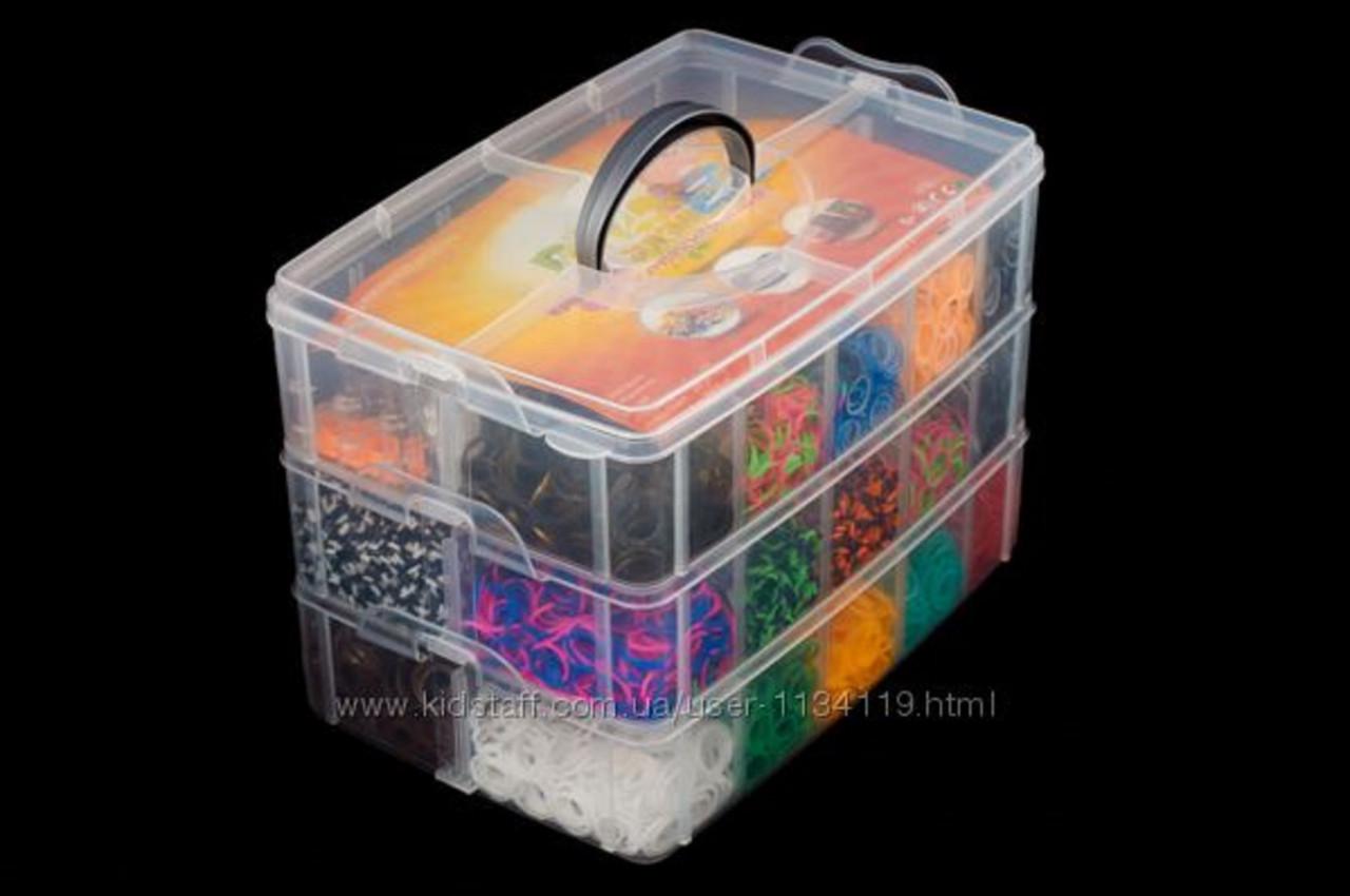 Набор для плетения браслетов Rainbow loom  10000 резинок