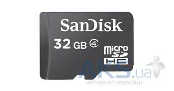 Карта памяти SanDisk MicroSDHC Class 4 32Gb - интернет-магазин BUMEKS.com.ua в Киеве