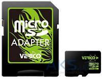 Карта памяти Verico 32GB MicroSDHC Class 10 + SD Adapter (VFE3-32G-V1E)