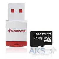 Карта памяти Transcend 32GB MicroSDHC Class 10 + Reader (TS32GUSDHC10-P3)