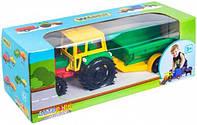 Трактор Wader с прицепом в коробке (39009)