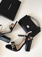 Кожаные босоножки  Marmont черные