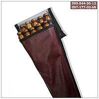 Набор шампуров с деревянными ручками, 60 см, в чехле 10 штук (3мм, 15мм), фото 1