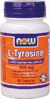 NOW Foods L-Tyrosine 500 mg 60 caps