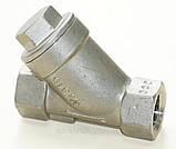 Фильтр нержавеющий резьбовой Y-обр. AISI304 Ду40 Ру40, фото 6