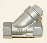 Фильтр нержавеющий резьбовой Y-обр. AISI304 Ду50 Ру40, фото 4