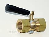 Кран трехходовой 11б18бк под манометр точеный с ручкой М20х1,5/G½ Pу25, фото 3