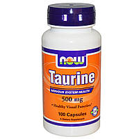 NOW Foods L-Taurine 500 mg 100 caps