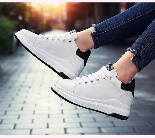 b90c471f2104 Спортивные кожаные туфли с черным задником на шнуровке