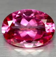 Натуральный бразильский розовый топаз