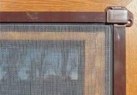 Москитная сетка на карманах коричневая