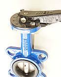 Затвор поворотный Баттерфляй VITECH Ду40 Ру16  диск нержавеющая сталь, фото 6