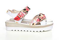 Летние женские сандалии из натуральной кожи на платформе