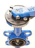 Задвижка поворотная Баттерфляй VITECH Ду150 Ру16 диск чугун , фото 5