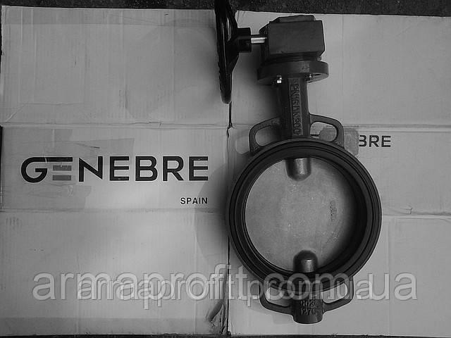 Задвижка поворотная Баттерфляй GENEBRE тип 2103 Ду300 Ру16 диск чугун оцинк. с редуктором
