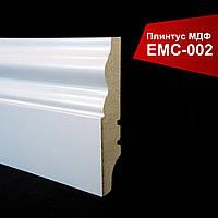Плинтус МДФ 16х60х2700 мм фигурный белый