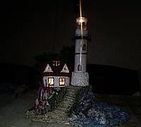 """Бутылка-подсвечник """"Маяк"""" Декор интерьера в морском стиле. Ручная работа, фото 1"""