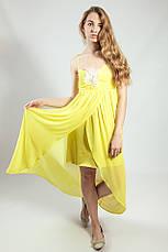 Платье женское  вечернее нарядное в пол желтое Rinascimento, фото 2