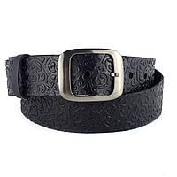 Женский кожаный ремень T-01 (черный) (4 см), фото 1