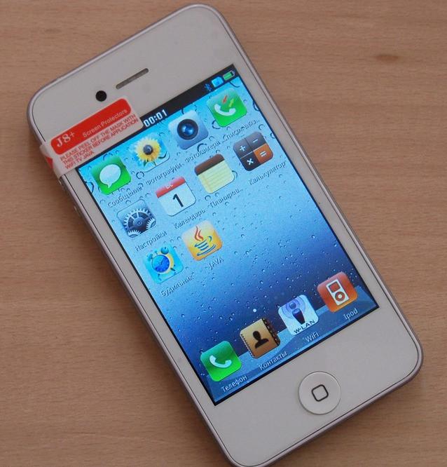 Фото обзор копии iPhone 4 модель J8