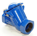 Клапан обратный канализационный чугунный муфтовый арт. BCV-16M (C302) Ду65 Ру16, фото 2