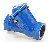 Клапан обратный канализационный чугунный муфтовый арт. BCV-16M (C302) Ду65 Ру16, фото 3