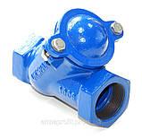 Клапан обратный канализационный чугунный муфтовый арт. BCV-16M (C302) Ду65 Ру16, фото 4