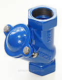Клапан обратный канализационный чугунный муфтовый арт. BCV-16M (C302) Ду65 Ру16, фото 6