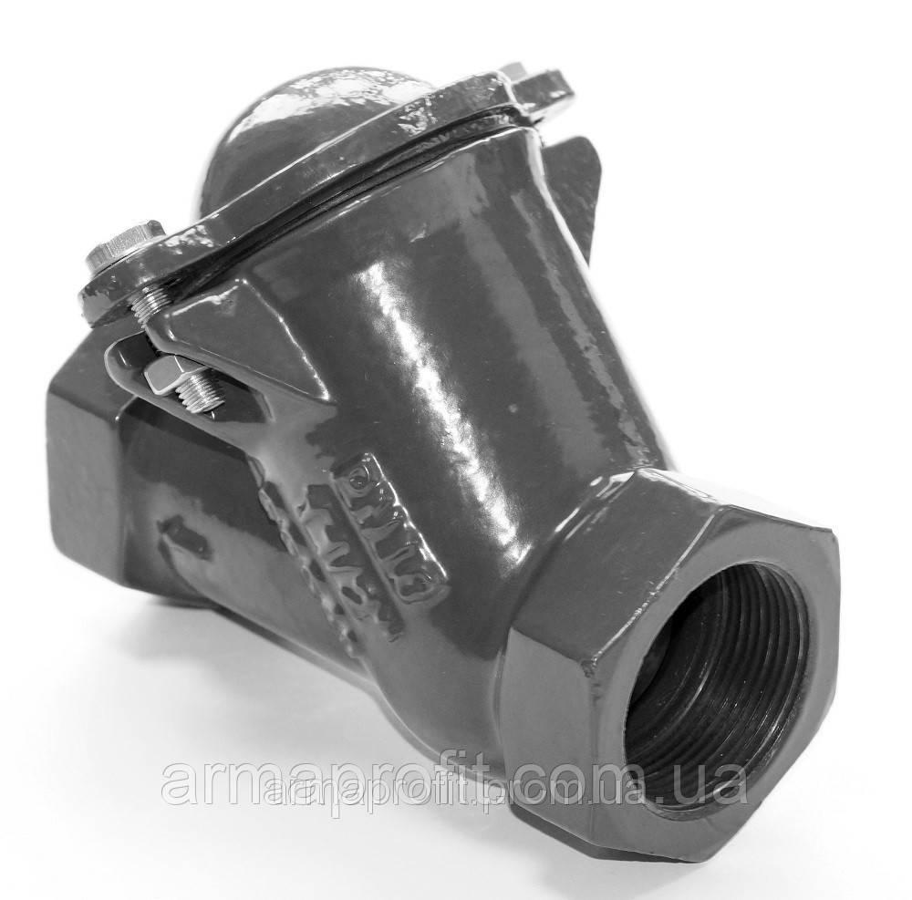Клапан обратный канализационный чугунный муфтовый арт. BCV-16M (C302) Ду80 Ру16