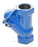 Клапан обратный канализационный чугунный муфтовый арт. BCV-16M (C302) Ду80 Ру16, фото 5