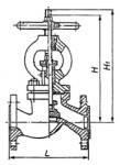 Клапан запорный стальной 15с18п фланцевый для амиака (Украина) Ду40 Ру25, фото 2