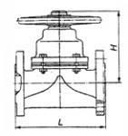 Клапан диафрагмовый эмалированный 15ч94эм фланцевый (Украина) Ду32 Ру10