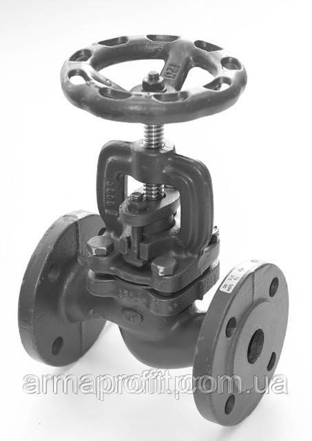 Вентиль запорный чугунный фланцевый арт. 215 A ZETKAMA Ду100 Ру16
