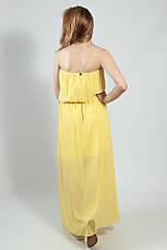 Платье женское   вечернее в пол желтое коктельное выпускное  на бретелях  XTSY, фото 3