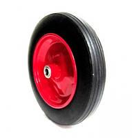 Колесо для тачки 4.00-8 +ось на 20 мм (литая резина)