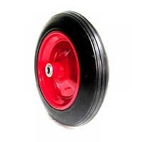 Колесо для тачки 3.50-8 +ось на 20 мм (литая резина)