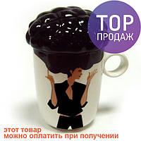 Подарок девушке - кружка керамическая afro cup / сувенирная чашка