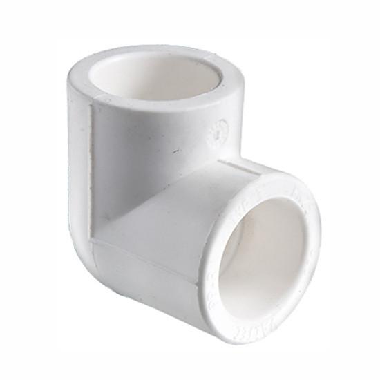 Белый фитинг колено под пайку PP-r 90 х 25 KALDE WHITE