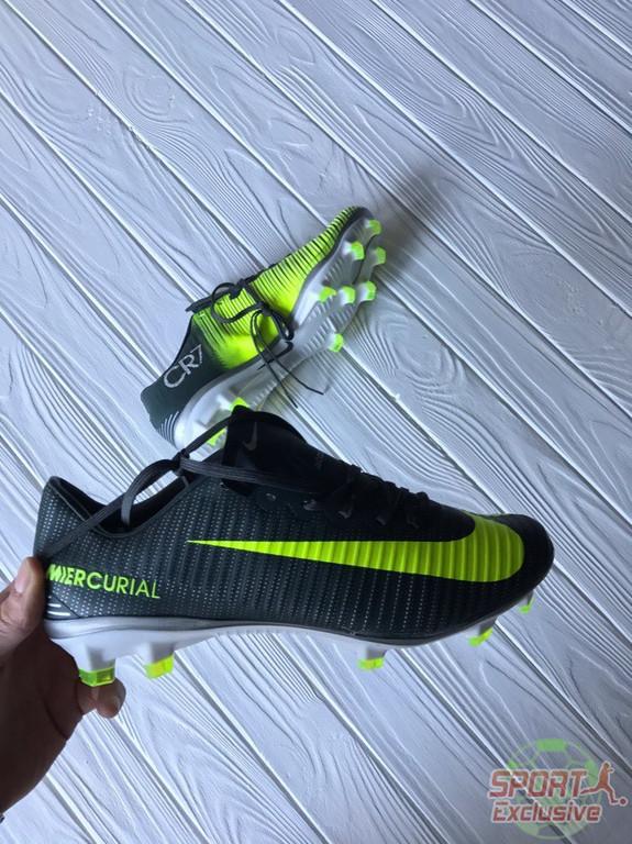 Бутсы Nike Mercurial Vapor XI CR7 FG - Seaweed/Volt/Hasta/White